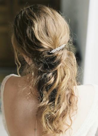 """Ornement cheveux mariée rétro """"Suzon"""" avec cristaux"""