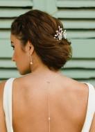 """Bijou de dos """"Clélie"""" pour votre collier de mariée"""