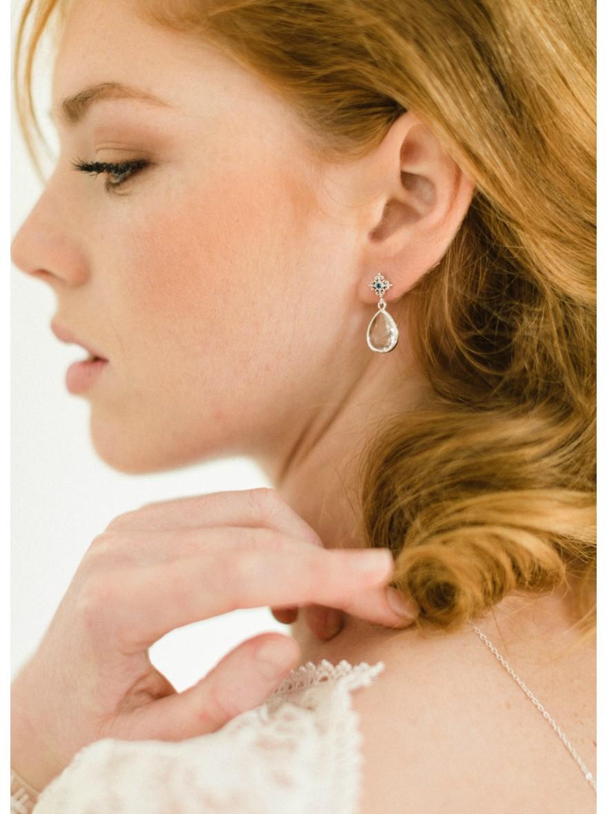 """boucles d'oreilles mariée """"juliette"""" au charme rétro quelque chose"""