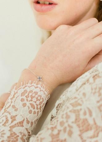 """Bracelet mariage """"Juliette"""" discret quelque chose de bleu"""