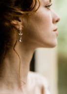 """Boucles d'oreilles mariée """"sofia"""" pendantes au charme rétro"""