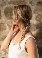 """""""Meline"""" Headband long fil à tresser dans votre coiffure"""