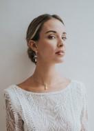 """""""Theodora"""" collier de mariée avec pendentif perle nacrée"""
