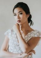 """""""Paola"""" collier de mariée avec perle simple, minimaliste et discret"""