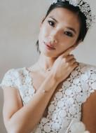 """""""Zélie"""" collier de mariée avec cabochon de cristal"""