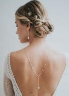 """""""Alba"""" collier de mariée tendance avec perle pour robe dos nu"""
