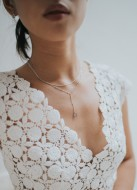 """""""Tamara"""" collier de mariée double rang"""