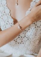"""Bracelet mariage """"Victoire"""" avec serti rétro forme poire"""