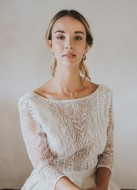 "Bracelet mariage ""Noéline"" avec serti fleuri et discret"