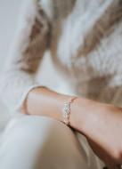 """Bracelet mariage """"Romane"""" avec perles en cristal esprit art déco"""