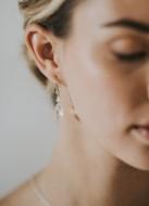 """Boucles d'oreilles mariée """"Romane"""" avec larmes de cristal et jolies dormeuses"""