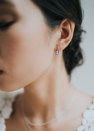 """Boucles d'oreilles mariée """"Tamara"""" petite et discrète"""