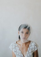 """""""Hélène"""" Voilette de mariée rétro en tulle"""