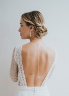 """Bijou de dos """"Théodora"""" pour votre collier de mariée"""