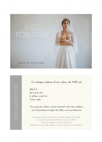 Bon cadeau bijoux et accessoires mariage valeur 100 euros