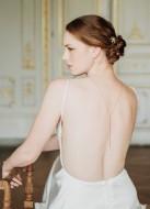 """""""Abby"""" Collier de mariée pour robe dos nu avec perles"""