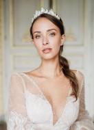 """""""Lison"""" Collier de mariée pour robe dos nu avec cristaux"""