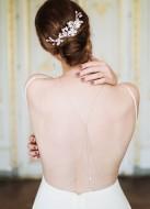 """""""Anastasia"""" collier de mariée pour robe dos décolleté avec perles"""