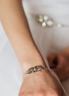 """Bracelet mariage """"Aurore"""" avec joli trio de fleurs"""