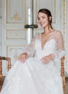 """Boucles d'oreilles mariée """"Rosalia"""" créoles au charme bohème chic"""