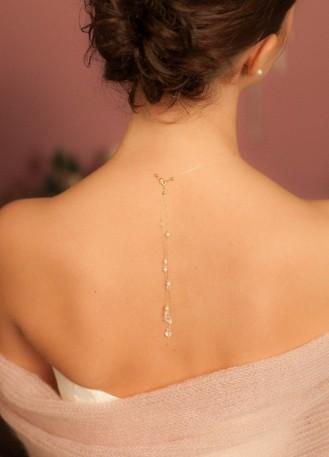 """Bijou de dos """"Gouttes"""" pour votre collier de mariée"""