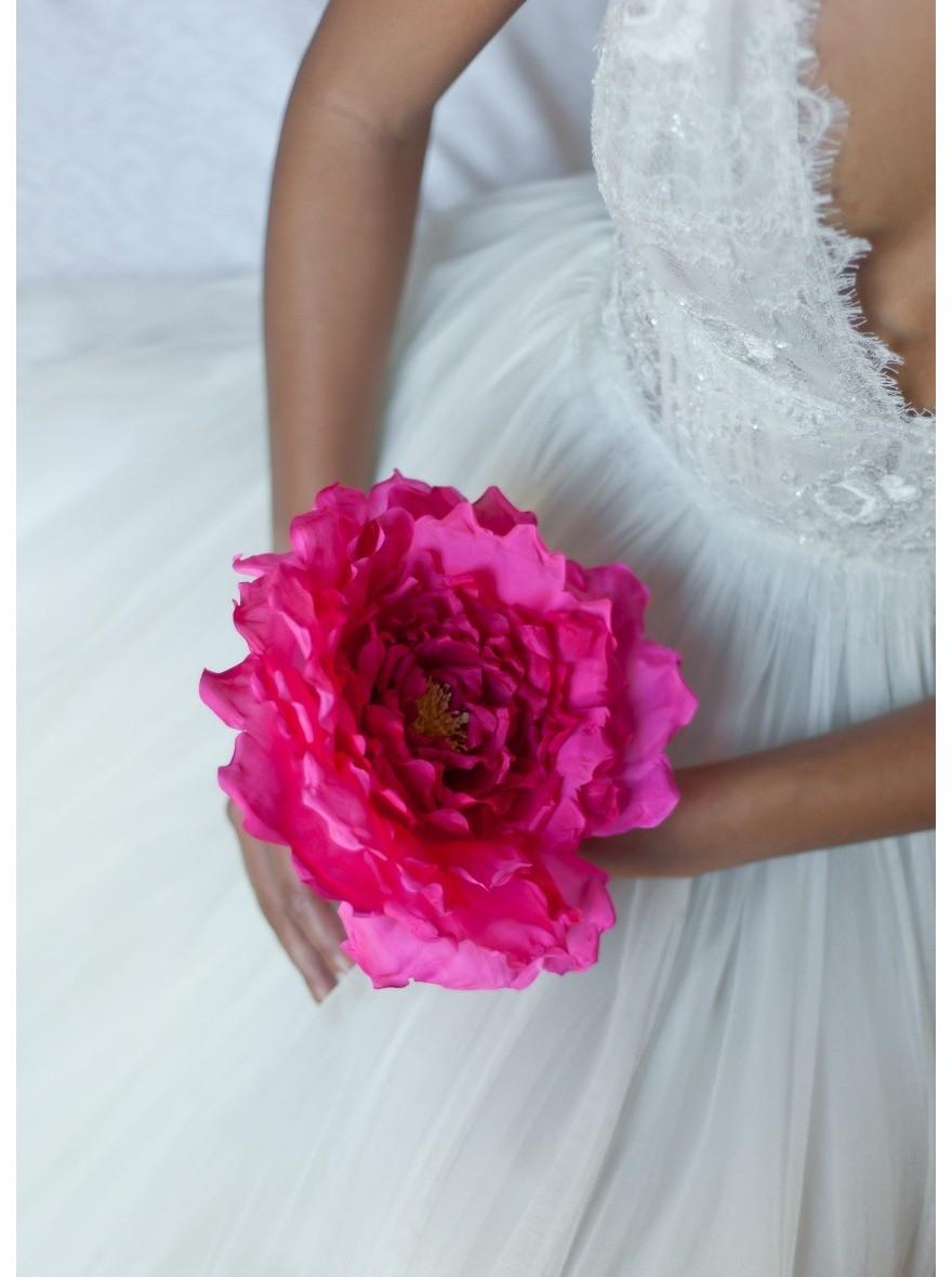 Bouquet De Mariee Fleur Unique En Soie Lilly So Helo