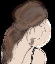 cheveux mi-attachés coiffure mariage