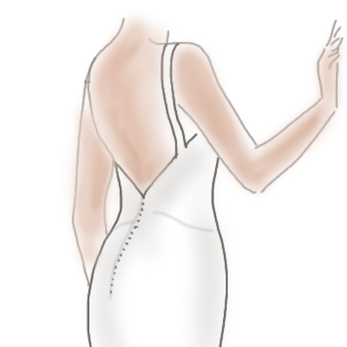 Conseils robe de mariée dos nu glamour
