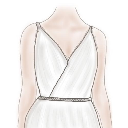 conseils bijoux robe de mariée décolleté v