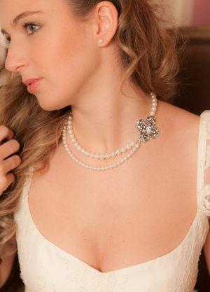 collier-mariée-double-rangs-perles-rétro